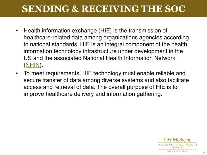 Sending & Receiving the SOC