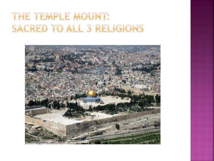 The temple mount: