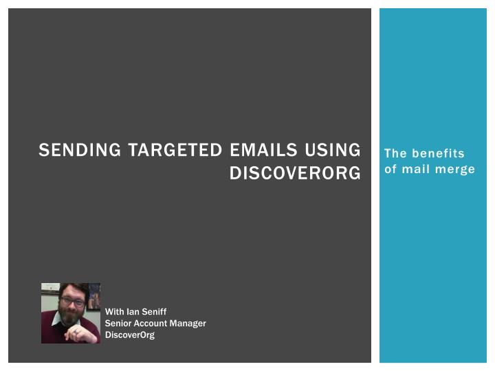 Sending Targeted Emails Using DiscoverOrg