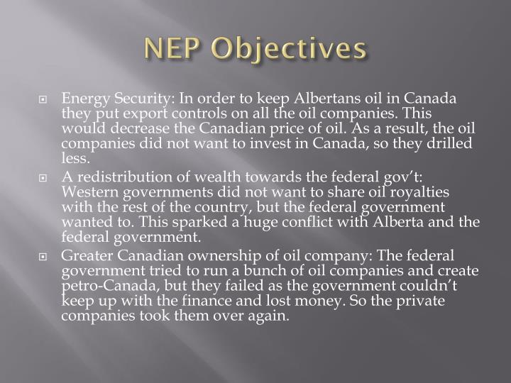NEP Objectives