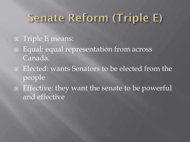 Senate Reform (Triple E)