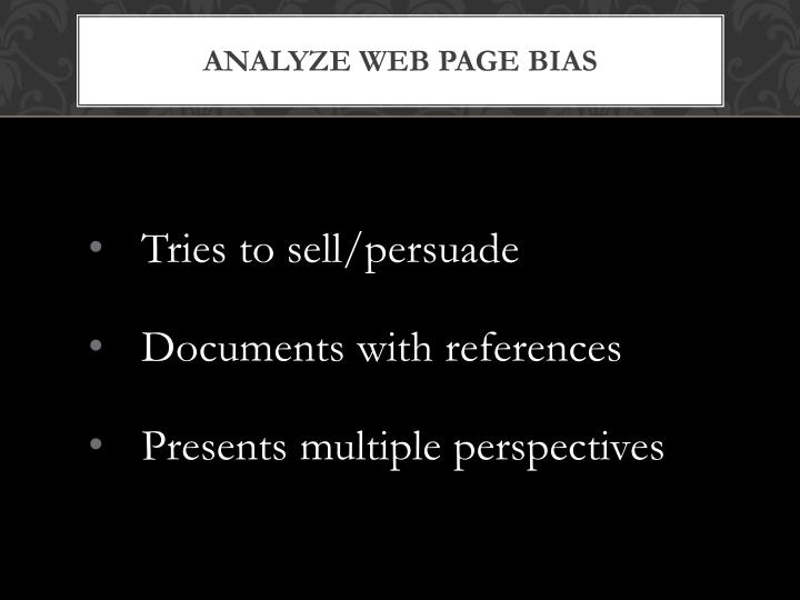 Analyze Web Page