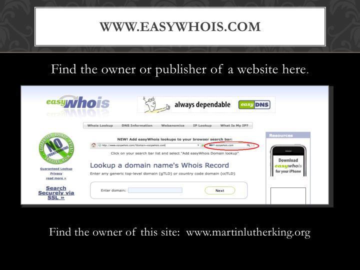 www.easywhois.com