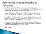 references not on moodle or syllabus