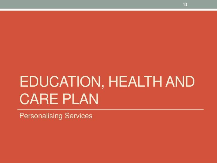 Education, Health and Care Plan