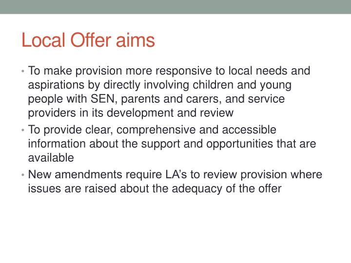 Local Offer aims
