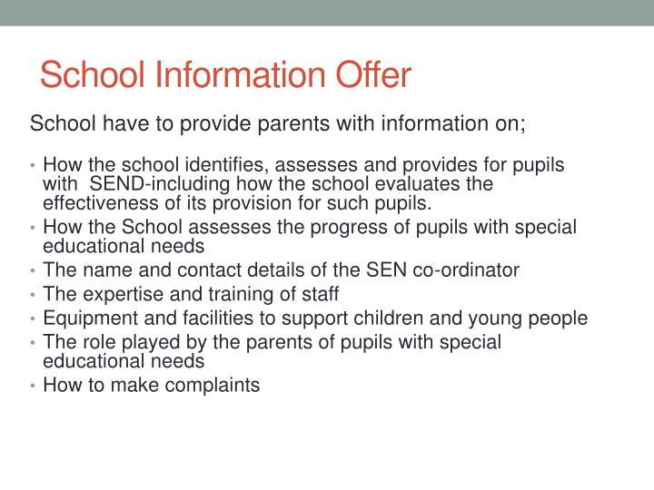 School Information Offer