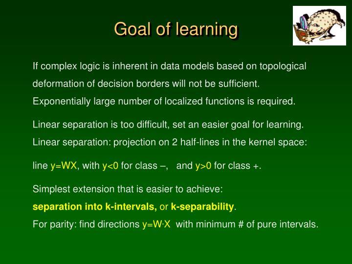 Goal of learning