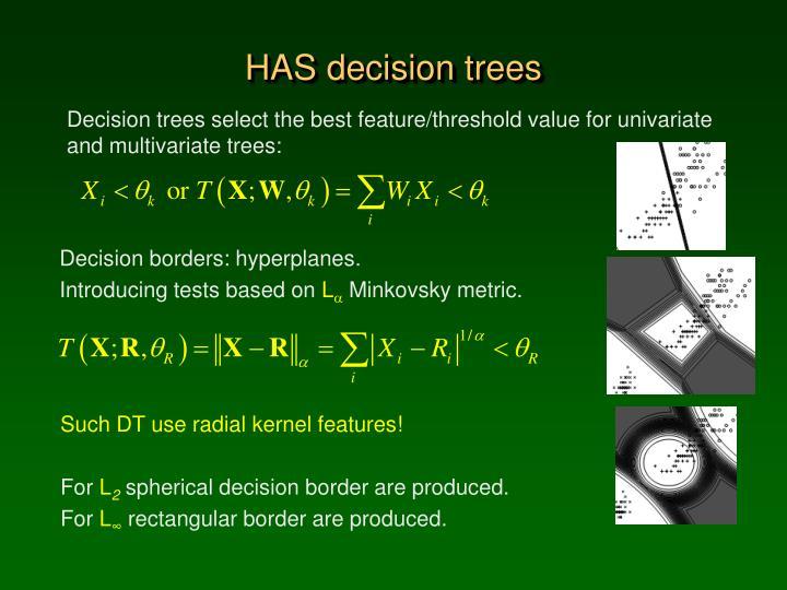 HAS decision trees