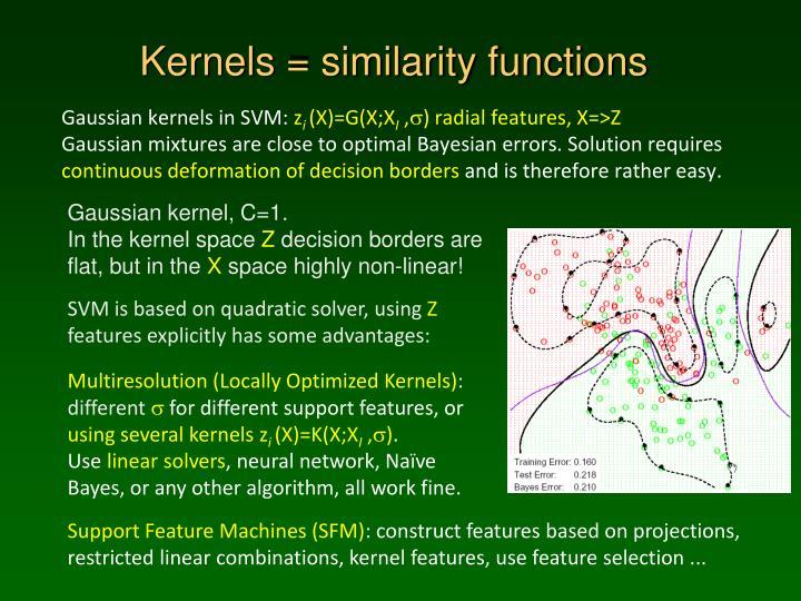 Kernels = similarity functions