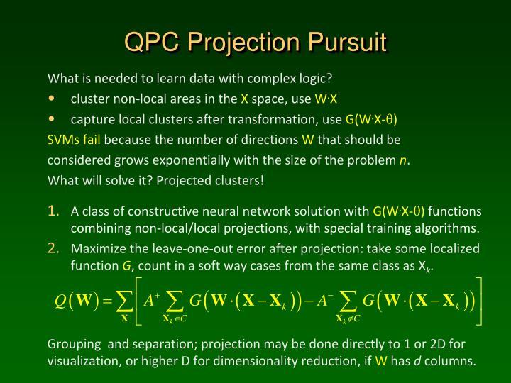 QPC Projection Pursuit