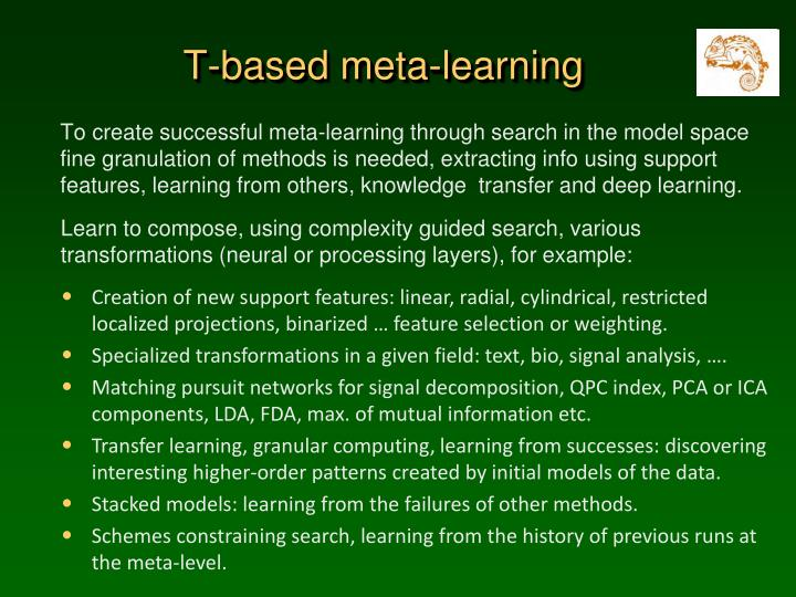 T-based meta-learning