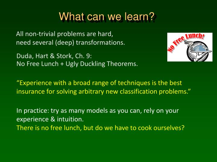 What can we learn?