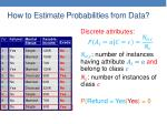 how to estimate probabilities from data3