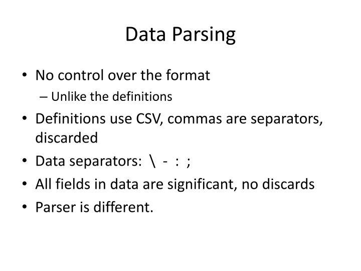 Data Parsing
