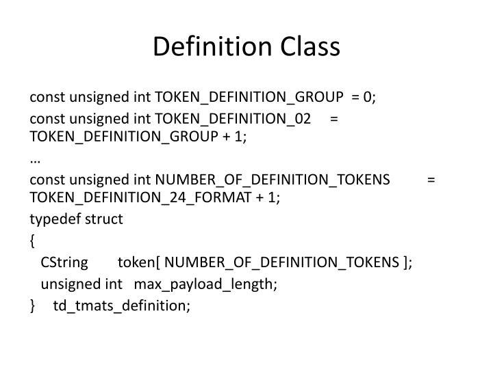 Definition Class