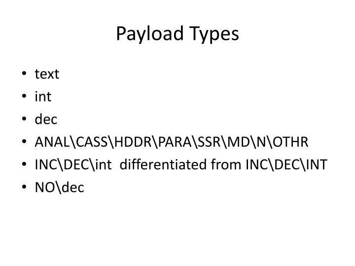 Payload Types