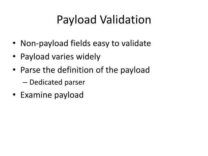 Payload Validation