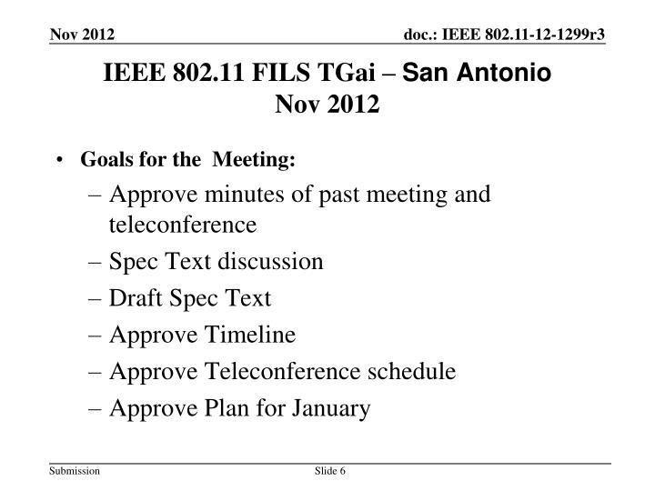 IEEE 802.11 FILS TGai –