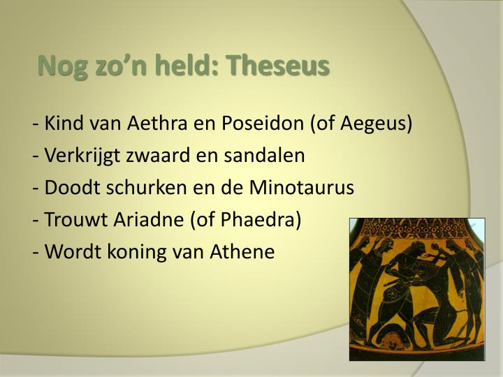 Nog zo'n held: Theseus