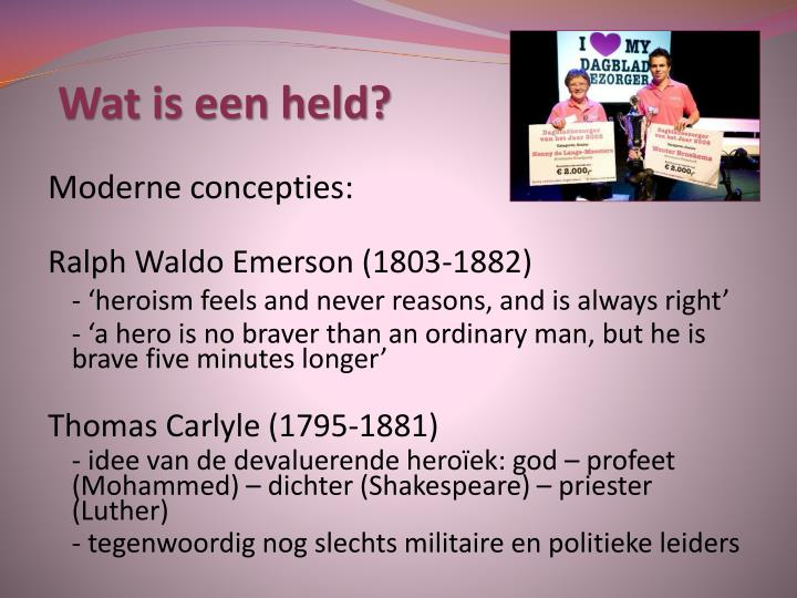 Wat is een held?