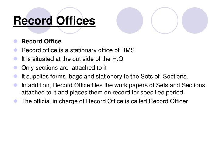 Record Offices