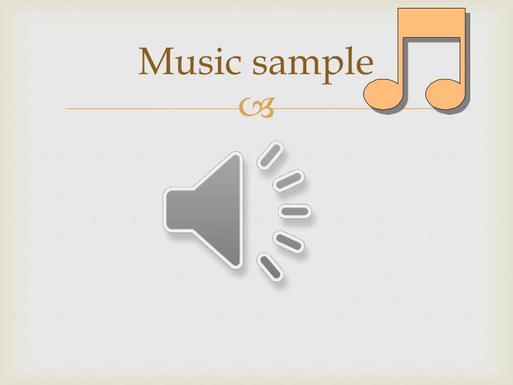 Music sample