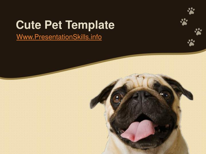 Cute pet template