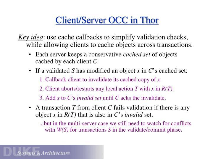 Client/Server OCC in Thor