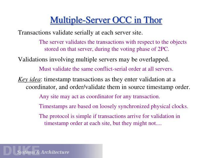 Multiple-Server OCC in Thor