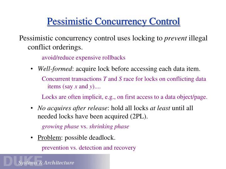 Pessimistic Concurrency Control
