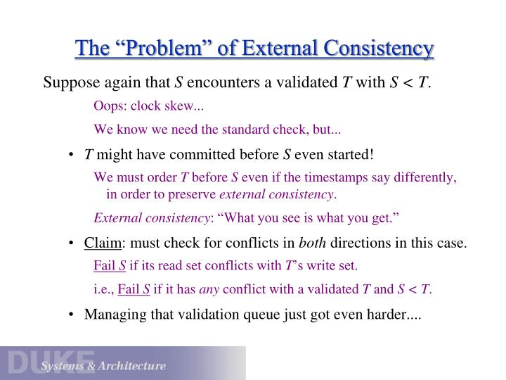 """The """"Problem"""" of External Consistency"""