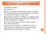 paul s many accomplishments