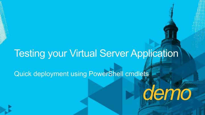 Testing your Virtual Server
