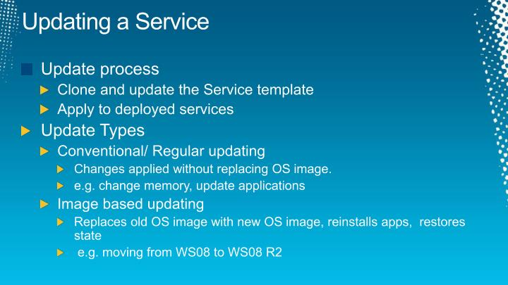 Updating a Service