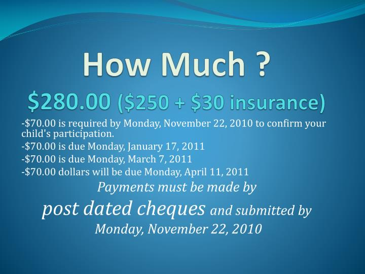 How much 280 00 250 30 insurance
