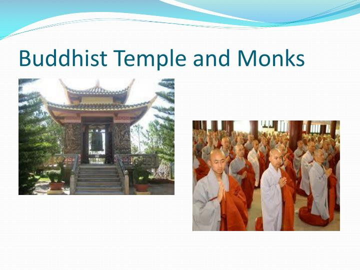 Buddhist Temple and Monks