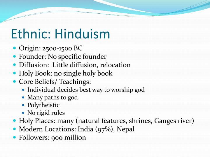 Ethnic: Hinduism