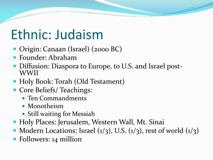 Ethnic: Judaism
