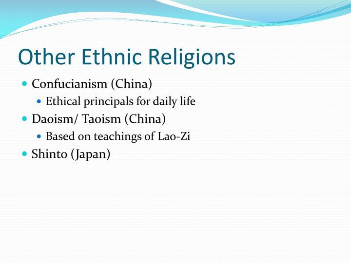 Other Ethnic Religions