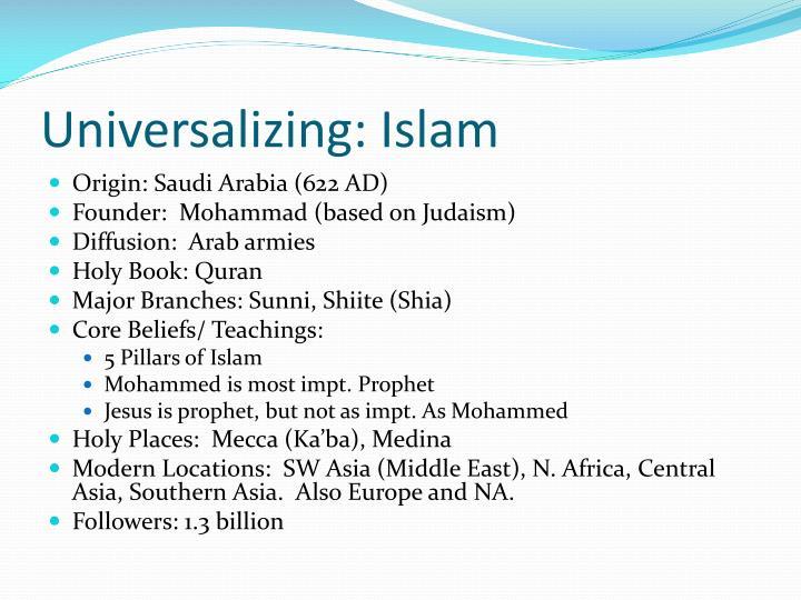 Universalizing: Islam