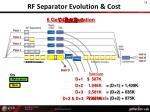 rf separator evolution cost