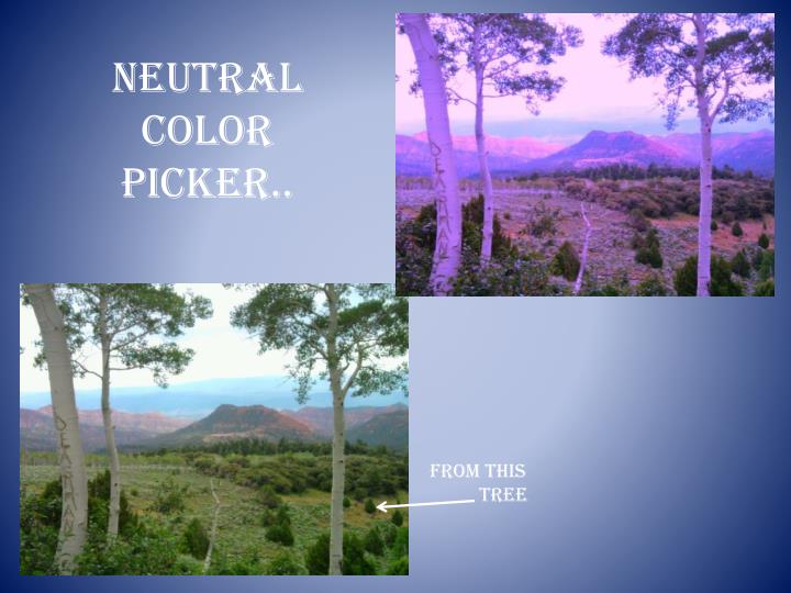 Neutral Color Picker..