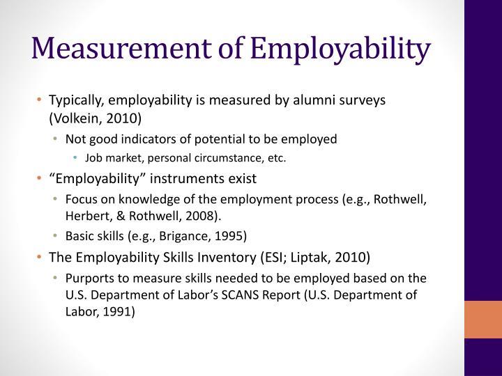 Measurement of Employability