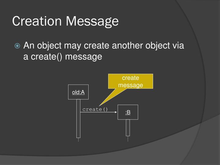 Creation Message