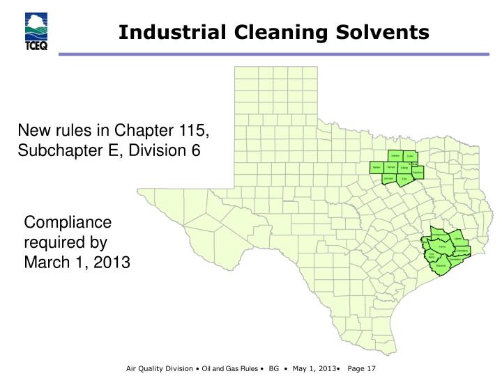 Industrial Cleaning Solvents