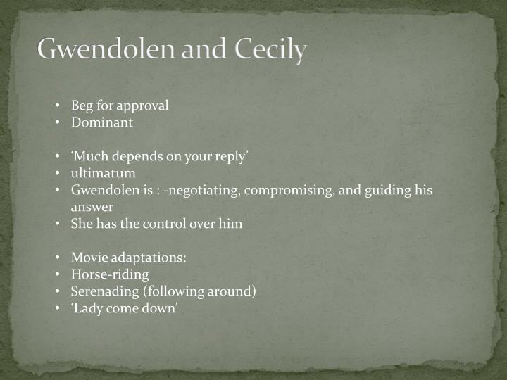 Gwendolen and Cecily