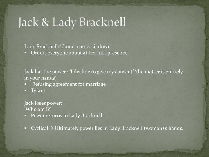 Jack & Lady Bracknell