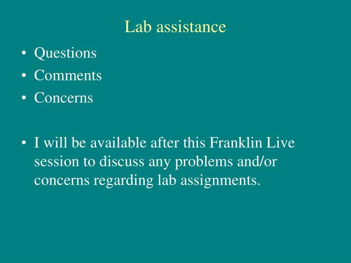 Lab assistance