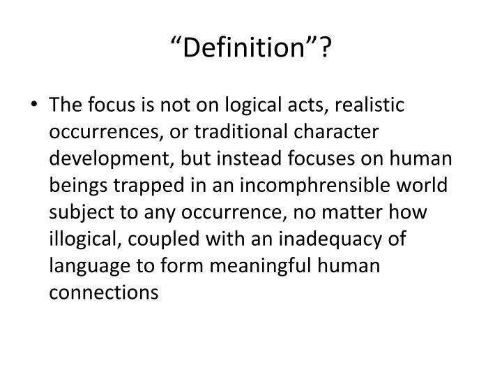"""Definition""?"